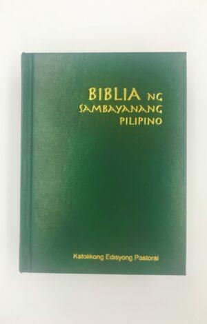 Biblia ng Sambayanang Pilipino Katolikong Edisyong Pastoral Small Hardbound (Green)