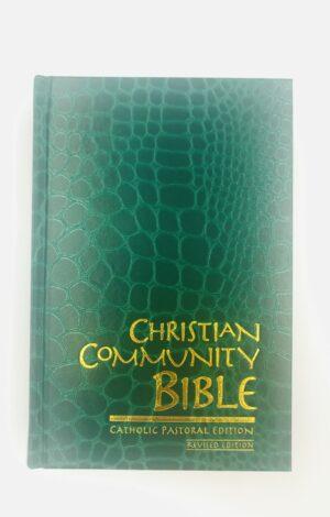 Christian Community Bible Catholic Pastoral Edition Popular Hard Indexed GREEN